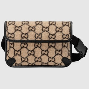 Gucci Belt Bag In Beige GG Wool
