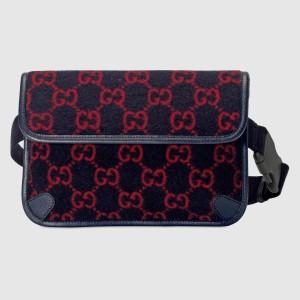 Gucci Belt Bag In Blue GG Wool