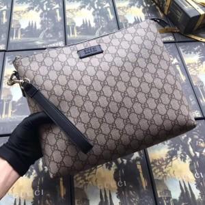 Gucci Beige GG Supreme Portfolio Pouch