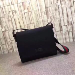 Gucci Black Techno Canvas Messenger Bag