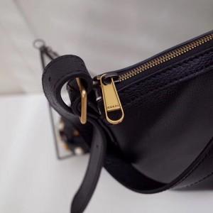 Gucci Black Print Half-Moon Hobo Bag