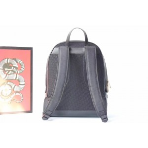 Gucci Black Animal Studs Leather Backpack