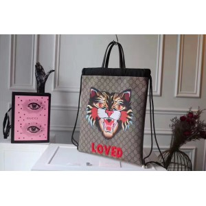 Gucci Angry Cat Soft GG Supreme Drawstring Backpack