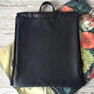 Gucci Black Coco Capitan Logo Backpack
