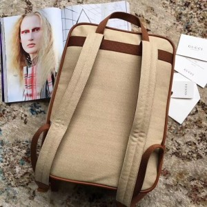 Gucci Beige Vintage Canvas Backpack
