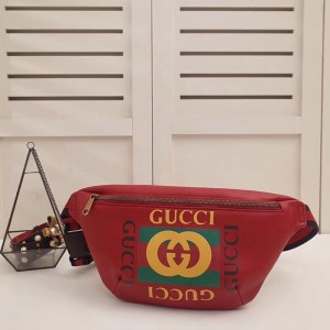 Gucci Belt Bag In Red Print Leather