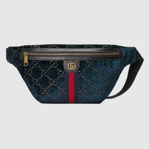 Gucci Blue GG Velvet Belt Bag