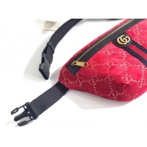 Gucci Red GG Velvet Belt Bag