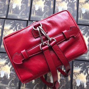 Gucci Backpack In Red Soft Leather