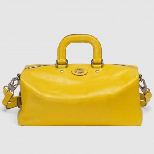 Gucci Backpack In Yellow Soft Leather