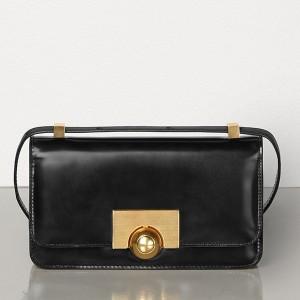 Bottega Veneta Mini BV Classic Bag In Black Calfskin