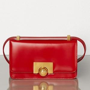 Bottega Veneta Mini BV Classic Bag In Red Calfskin