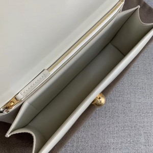Bottega Veneta BV Classic Bag In White French Calfskin