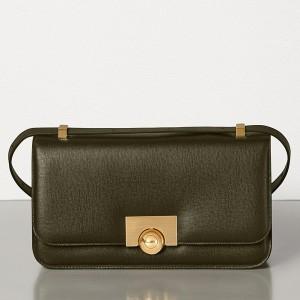 Bottega Veneta BV Classic Bag In Khaki Leather
