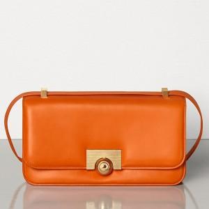 Bottega Veneta BV Classic Bag In Orange French Calfskin
