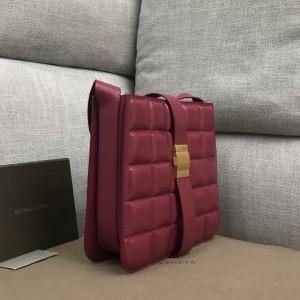 Bottega Veneta Padded Marie Bag In Amaranto Paper Calf