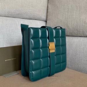 Bottega Veneta Padded Marie Bag In Green Paper Calf