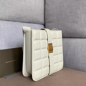Bottega Veneta Padded Marie Bag In White Paper Calf