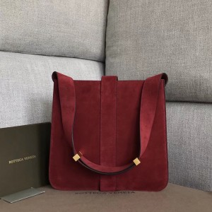 Bottega Veneta Marie Bag In Bordeaux Suede Leather