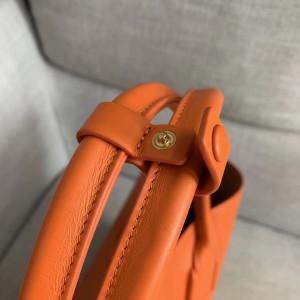 Bottega Veneta Medium Basket Tote In Orange Calfskin