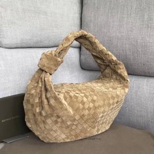Bottega Veneta Large BV Jodie Bag In Sand Woven Suede