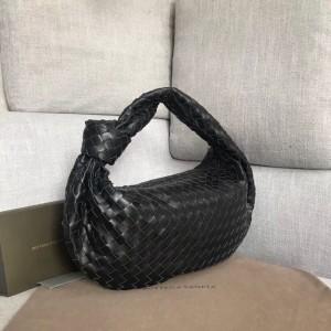 Bottega Veneta Large BV Jodie Bag In Black Woven Leather