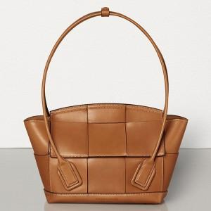 Bottega Veneta Arco 33 Intrecciato Bag In Wood Calfskin