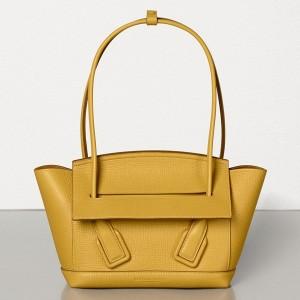 Bottega Veneta Arco 33 Bag In Yellow Grainy Calfskin