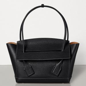 Bottega Veneta Arco 48 Bag In Black Grainy Calfskin