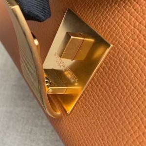 Bottega Veneta Small BV Angle Bag In Brown Palmellato