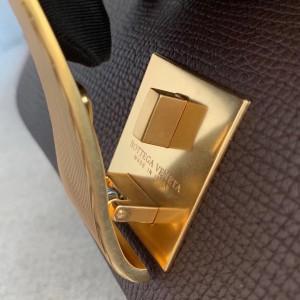 Bottega Veneta Small BV Angle Bag In Burgundy Palmellato