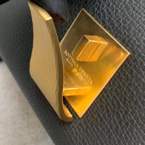 Bottega Veneta Small BV Angle Bag In Black Palmellato