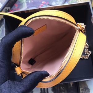 Gucci Ophidia GG Flora Mini Round Yellow Bag