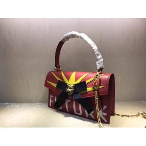 Gucci Red Osiride Leather Top Handle Bag