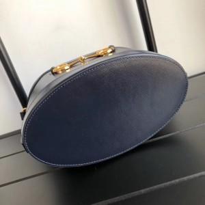 Gucci 1955 Horsebit Bucket Bag In Navy Calfskin