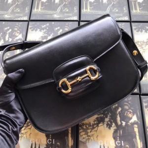 Gucci 1955 Horsebit Shoulder Bag In Black Leather