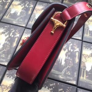 Gucci 1955 Horsebit Shoulder Bag In Red Leather