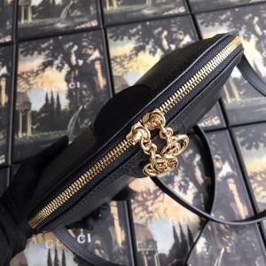 Gucci Black Calfskin Ophidia Small Shoulder Bag