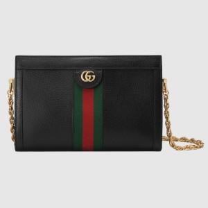 Gucci Black Ophidia Calfskin Small Shoulder Bag