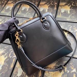 Gucci 1955 Horsebit Small Top Handle Bag In Black Calfskin