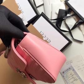 Gucci Pastel Pink GG Marmont Small Matelasse Shoulder Bag