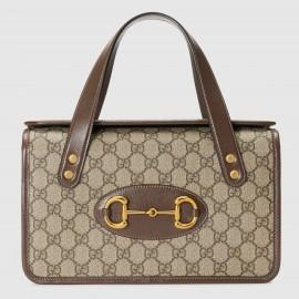 Gucci 1955 Horsebit Small Top Handle Canvas Bag