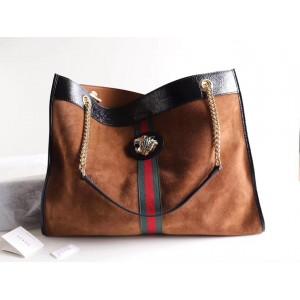 Gucci Brown Suede Rajah Large Tote Bag