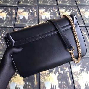 Gucci Black Rajah Medium Shoulder Bag