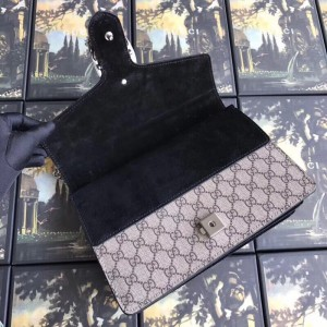 Gucci Black Dionysus Small GG Supreme Shoulder Bag