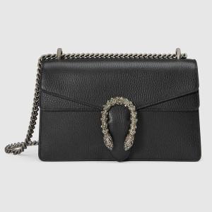 Gucci Black Dionysus Small Leather Shoulder Bag