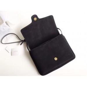 Gucci Black Suede Arli Medium Shoulder Bag