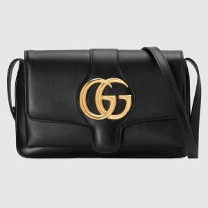 Gucci Black Small Arli Leather Shoulder Bag