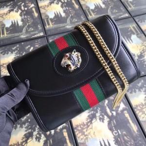 Gucci Black Rajah Mini Shoulder Bag