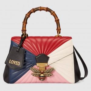 Gucci Multicolour Queen Margaret Medium Top Handle Bag